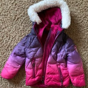 Pink and purple toddle winter coat